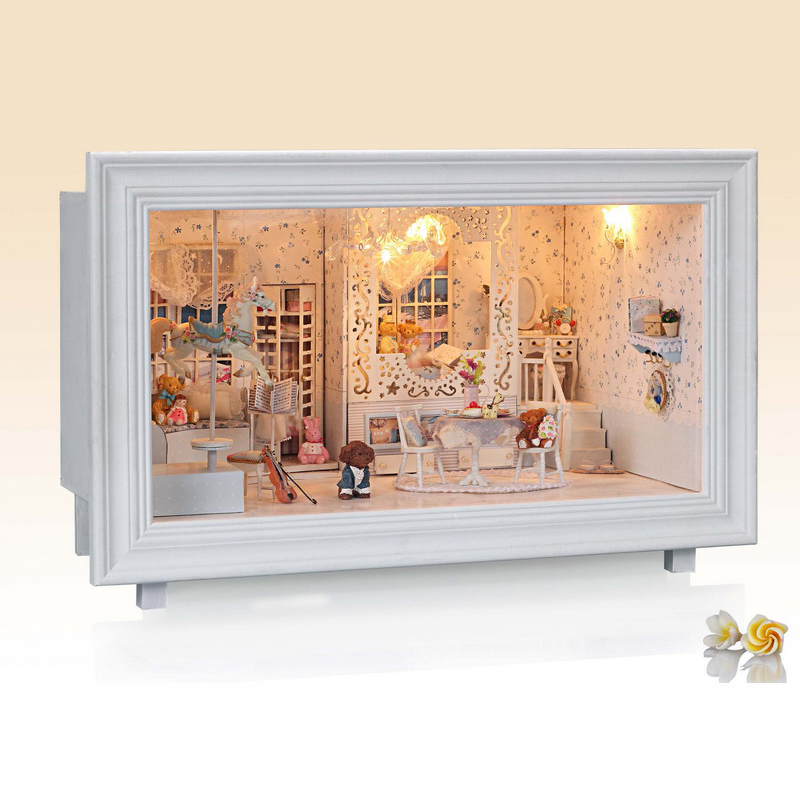 DIY Miniature Doll House Toy Model Building Kits Dollhouse Wooden Furniture Toys Birthday Gift Princess Dream Toys for Girl d030 diy mini villa model large wooden doll house miniature furniture 3d wooden puzzle building model