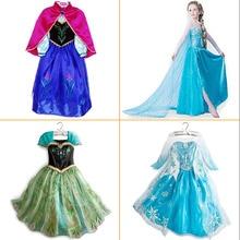 Niños Vestidos Para Niñas Elsa Niño Vestido de Boda de la Princesa Disfraces Infantiles de Verano Bata Enfant Fille Cinderella Snow Queen