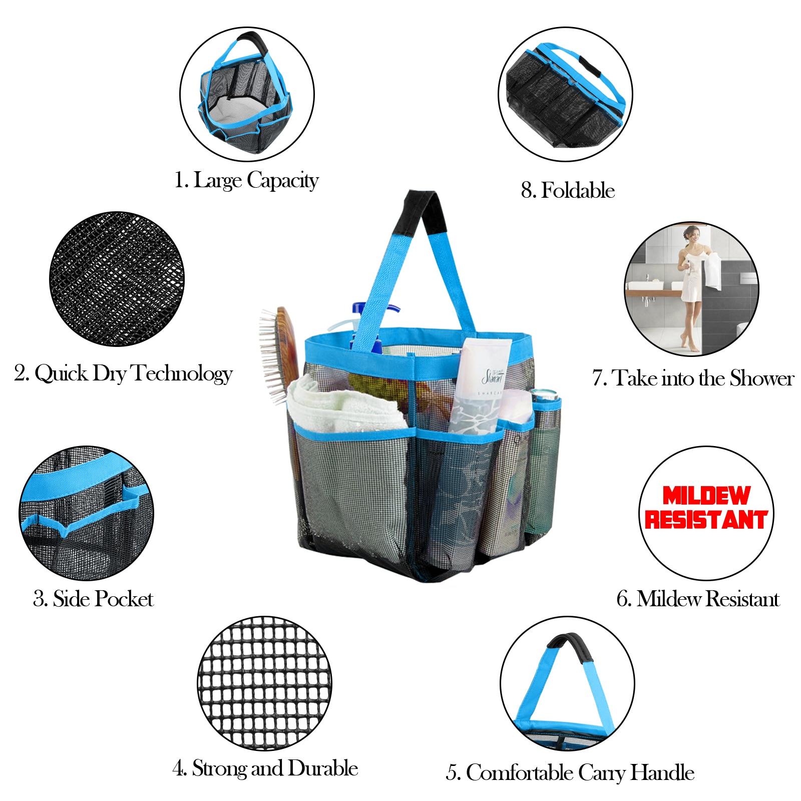 Aliexpress.com : Buy 1pc Quick Dry Mesh Fabric Shower Tote Storage ...