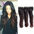Clip In Human Hair Extensions 7pcs/lot Clip In Hair Extensions Ombre Color 1b/4 Romance Curl Brazilian hair Clip in Extensions