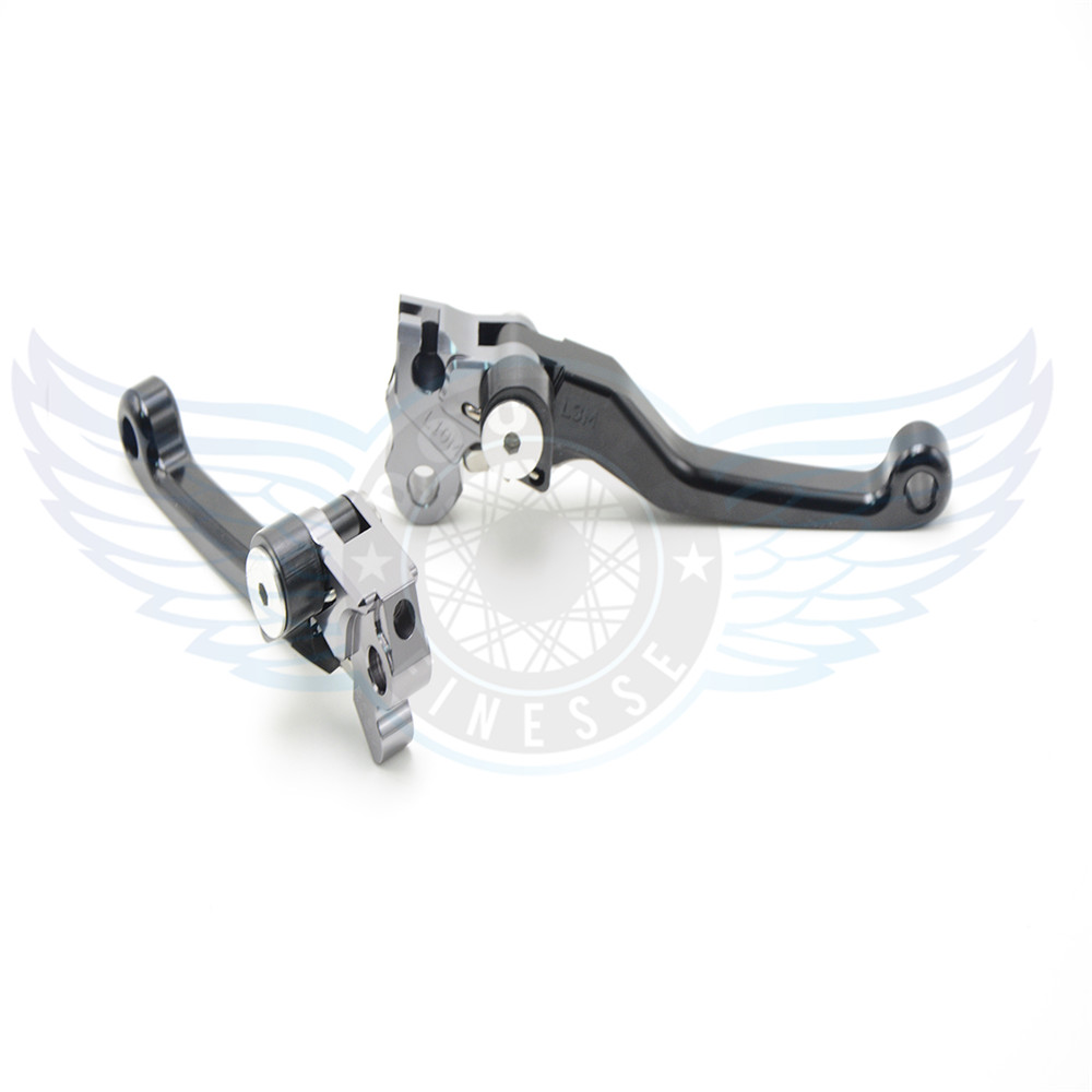 ФОТО Motorcycle Accessories One Pair Top Quality CNC Pivot Brake Clutch Levers Black For Honda CRF450X 2005 2006 2007 2008 2009