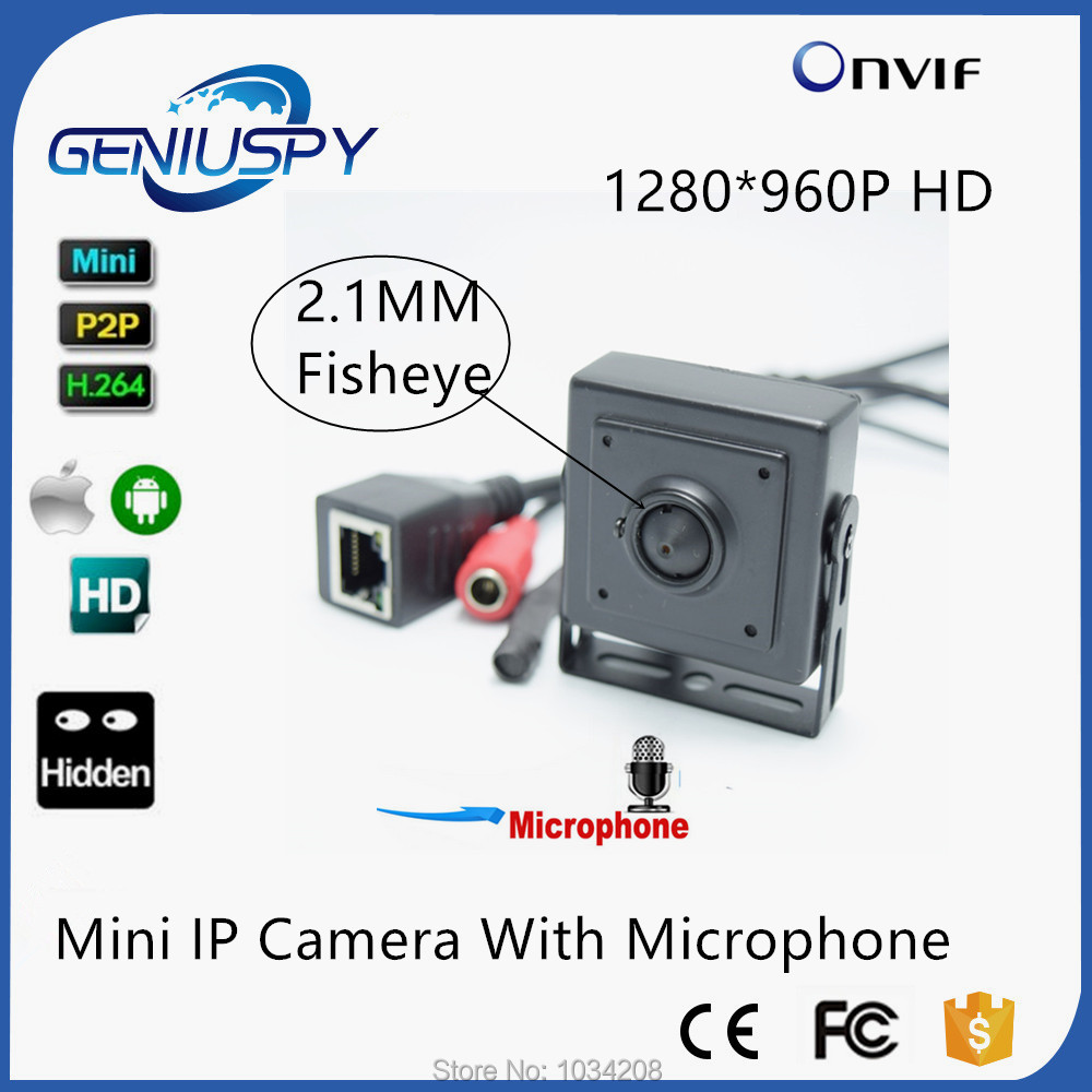 2.1mm Pinhole Wide Ang Lens Audio Video Camera 1.3 Megapixel HD Mini IP Camera H.264 With Microphone For 960p Security Camera aomway 1200tvl 960p ccd hd mini camera 2 8mm lens for fpv