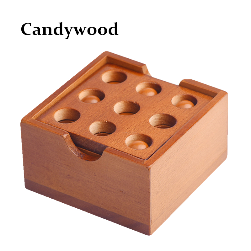 Wooden Toys Thirty-six Strategy IQ Brain Teaser Wood Interlocking 3D <font><b>Puzzles</b></font> Game Intellectual Toy For Adults