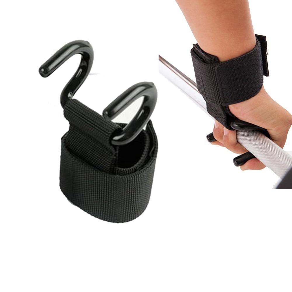 1 unid peso del gancho de elevación Barra de mano muñequeras guantes pesas fuerza entrenamiento gimnasio Fitness gancho elevación correa de sujeción