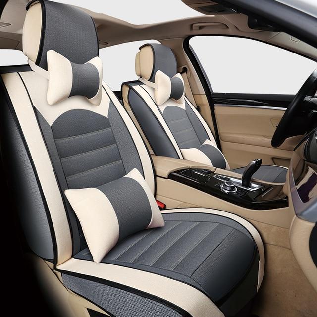 auto reise leinen tuch auto sitzbezüge set für peugeot 206 206cc 207