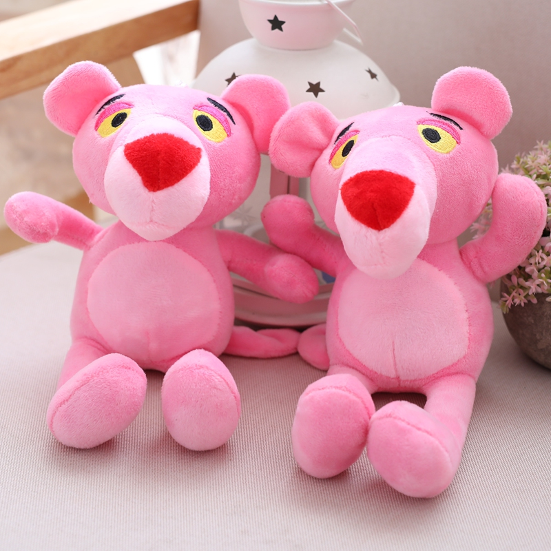 22cm Lovely Children Gift Naughty Pink Panther Stuffed Toy Plush Doll Plaything Christmas Presents Birthday Gifts