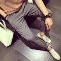 Горячая продажа весной и осенью Мужские белье Хлопок брюки прямая нижняя лен случайных брюки мужские брюки Отдыха
