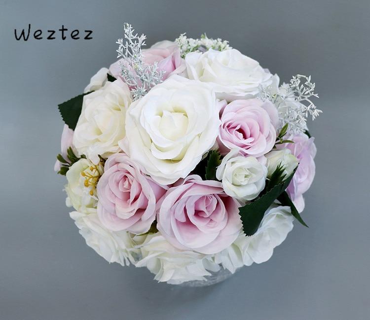 Artificial Flower Bridal Bouquet Bridal Wedding Bouquets Pink Champagne Bouquet For Brides PH11