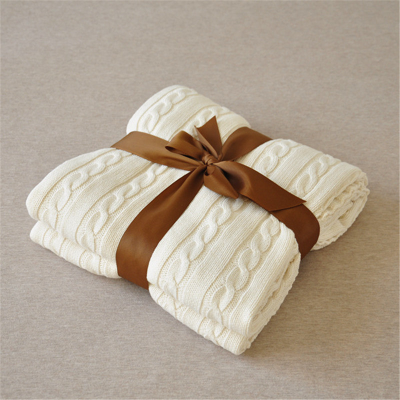 2016 Throw Blanket -1PC 100% мақта мата Knitted Blanket - Үй тоқыма - фото 2