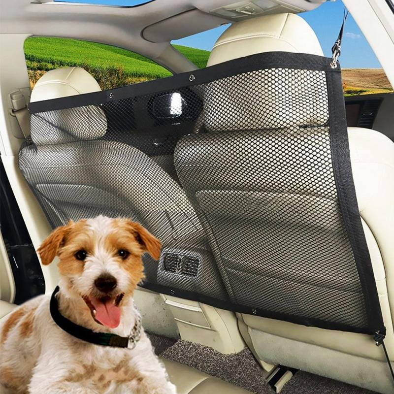 High Quality Car Anti-collision Mesh Pet Auto Fence Barrier Isolation Network Safety Isolation Bar Child Dog Buffer Device