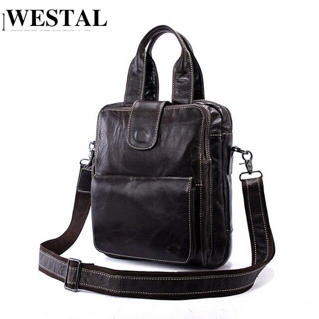 d512f4eeb7b WESTAL bolsa masculina couro bolsa mensageiro bolsas de ombro saco  masculino pasta executiva masculino bolsa couro