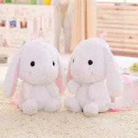 Amuse Squirrel Loliat Bunny Backpack Plush Soft Doll Hamster Animal Stuffed Toy Bag For Girls Kids Birthday Gifts Good Quality
