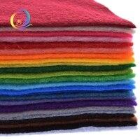 30x30 cm 24 stks Non-woven Vilt 1mm Dikte Polyester Soft Vilt Van Woondecoratie Patroon bundel Voor Naaien Poppen Ambachten