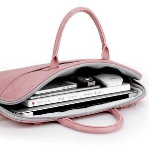 Image 3 - Fashion PU waterproof Scratch resistant Laptop Shoulder Bag 13 14 15.6 inch for MacBook Air Notebook Shoulder Carry Case