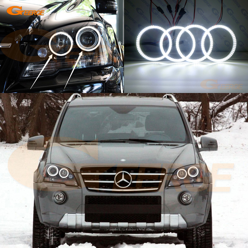 For Mercedes Benz M Class W164 ML320 ML350 ML450 ML500 ML550 ML63 AMG 2008-2011 Excellent Ultra bright smd led Angel Eyes kit винный шкаф до 140 см caso wineduett 21