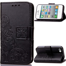 Lucky Clover Design PU leather Case For Apple iPhone 4 4s Case Wallet Card Holder stand Flip Phone Bags cover