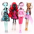 Muñecas monstruo draculaura/clawdeen wolf/frankie stein cuerpo de articulación móvil de alta calidad niñas plastic classic toys regalos