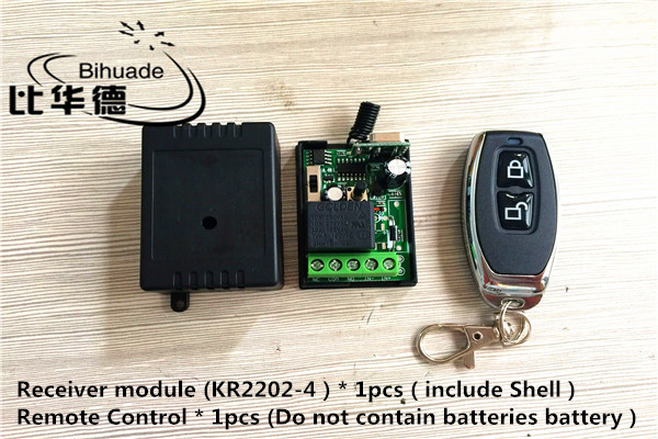 433Mhz Universal Wireless Remote Control Switch AC 220V 1CH Relay Receiver Module and RF 433 Mhz Remote Controls image