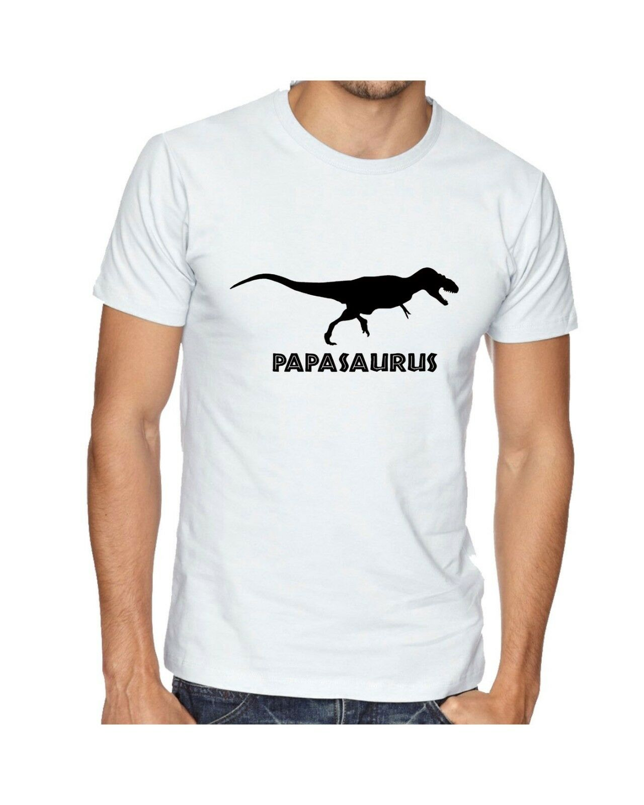 PAPASAURUS T Shirt for Papa Father's Day Tee Christmas Gift Funny Dinosaur Dad