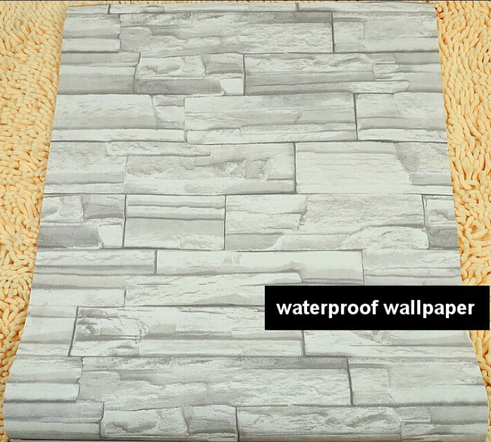 Beibehang Modern Style 3D Wallpaper Stone Brick Design Background