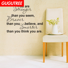 Decorate You Are Stronger letter art wall sticker decoration Decals mural painting Removable Decor Wallpaper LF-1960