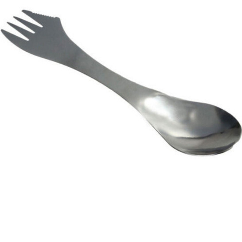 1 Pc 3 in 1 Titanium Fork Spoon Spork Cutlery Utensil Combo Kitchen Outdoor Picnic scoop/knife/Fork set dropship 2018 Hot Sale