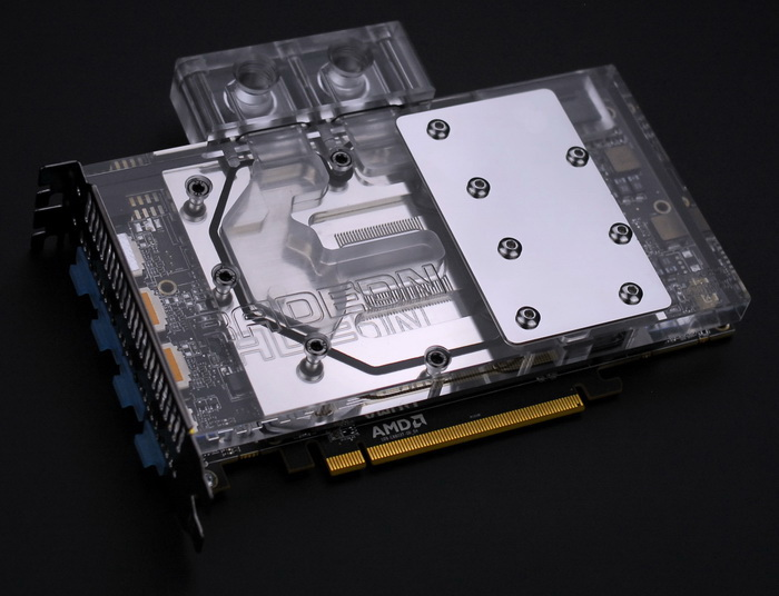 Bykski A-FURY-X Full Cover Graphics Card Water Cooling Block 0.5MM micro - channel design for AMD RADEON FURY qqv6 aluminum alloy 11 blade cooling fan for graphics card silver 12cm