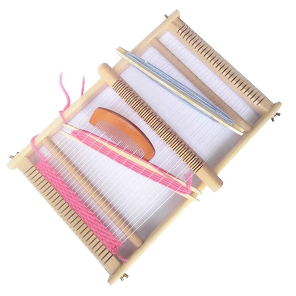 Cup Holders Drawstring Bags 70 X 50 X 3cm Adjustable Weaving Frame Solid Wood Blanket Scarf DIY Loom Sewing Machine for Handkerchiefs Weaving Machine