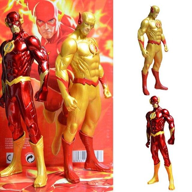 18 CM DC A Nova Liga Da Justiça JLA Super Herói The Flash Barry Allen PVC Anime Superman Action Figure Modelo Coleção Toy presente