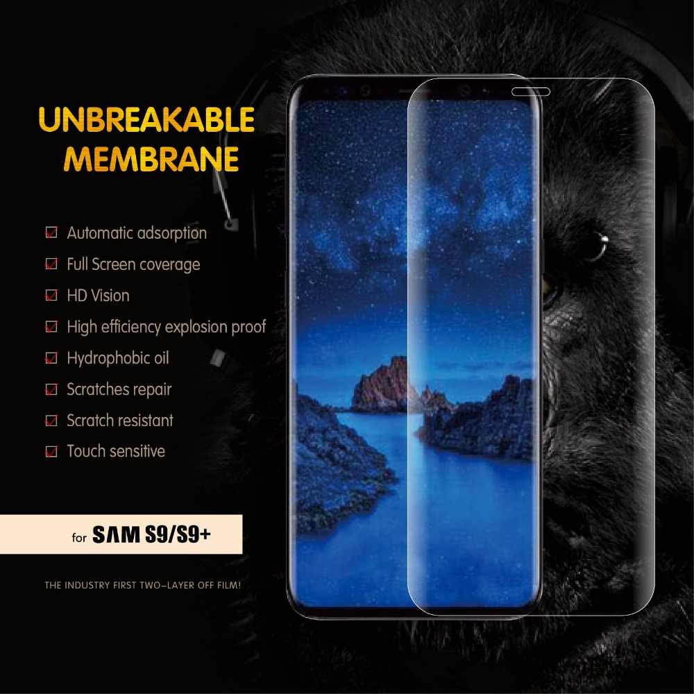 2PCS Soft Hydrogel Screen Protector For Samsung S10 S9 S8 Plus Front Film  Liquid Screen Protector Film For Note 8 9 A8 Plus 2018