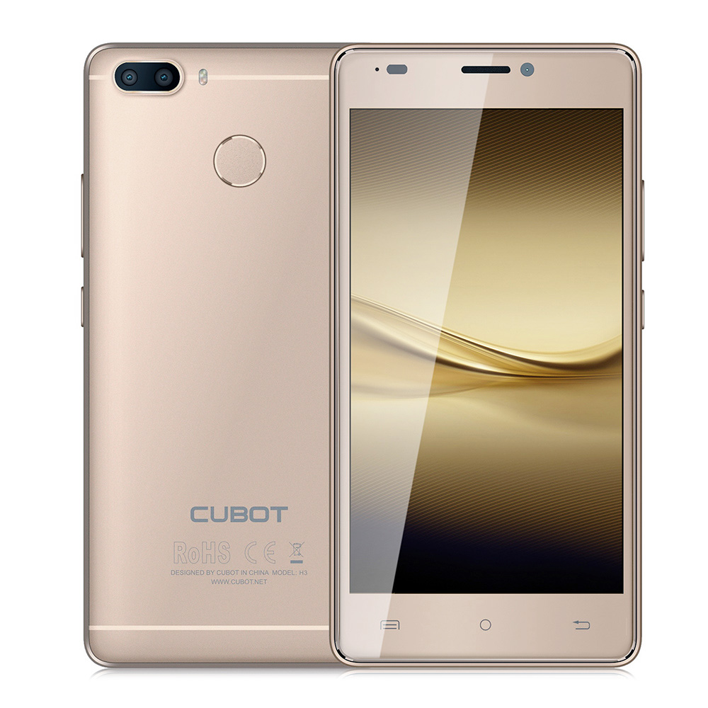 CUBOT H3 4G Smartphone 5,0 Zoll Android 7.0 MTK6737 1,3 GHz Quad Core 3 GB RAM 32 GB ROM 6000 mAh Batterie 13.0MP 0.3MP Hintere Kameras