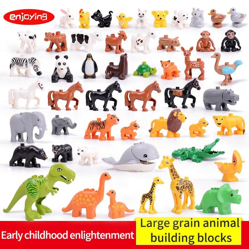 Compatible Legoing Duplos Large Particles Animal Series Model Bricks Figures Big Building Blocks Educational Toy For Childrens