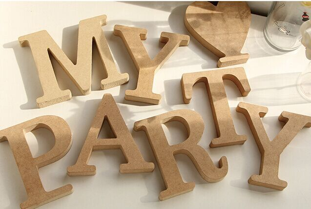 10cm wood carving wooden letters alphabet white letters home decoration wedding festival metope adornment alphanumeric