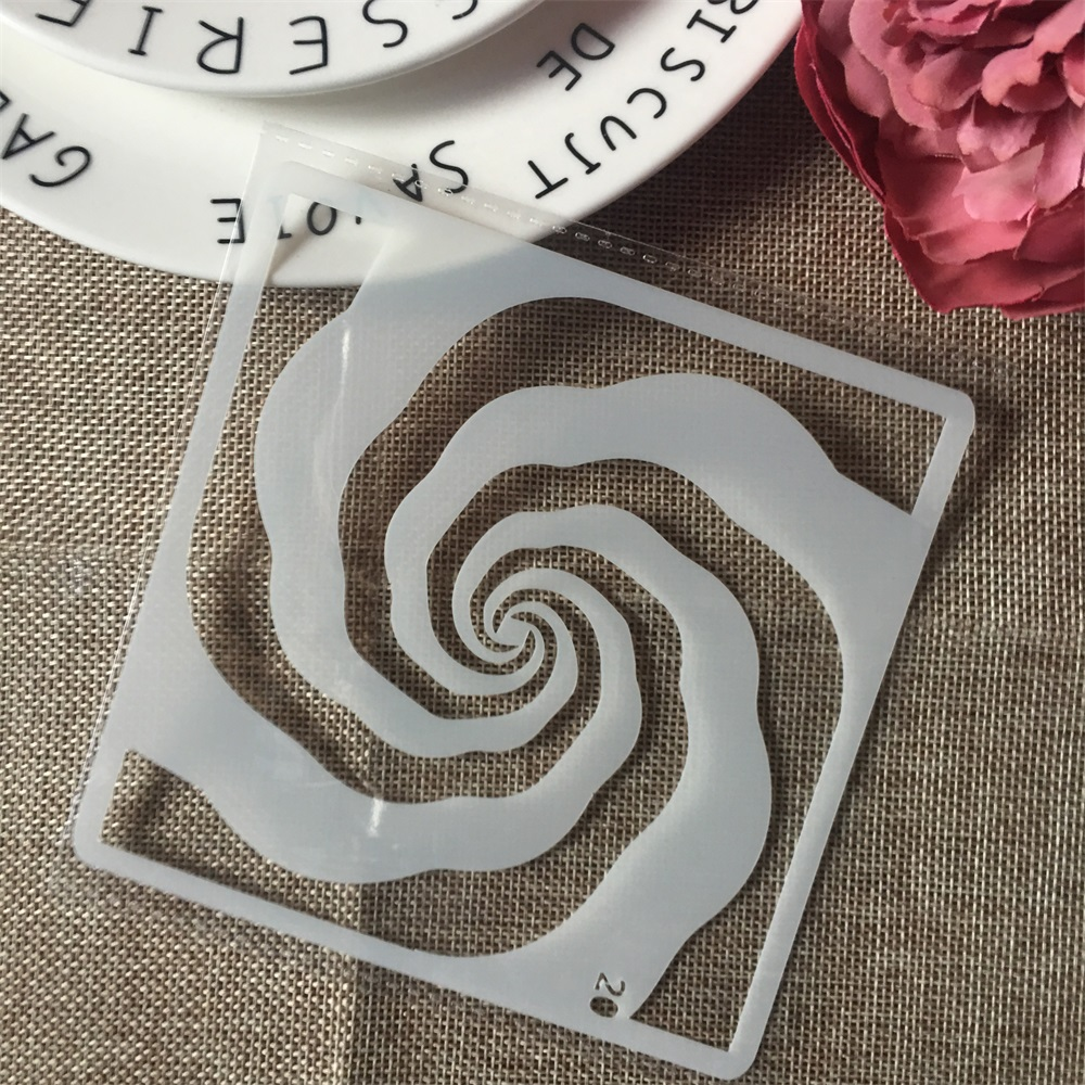 1Pcs 13cm Windmill DIY Layering Stencils Wall Painting Scrapbook Coloring Embossing Album Decorative Card Template
