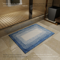Elegant Water absorption Bathroom carpet gradient color European style design Thick carpet nonslip rectangular oval machine wash