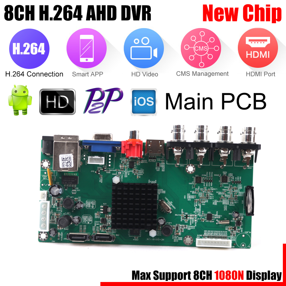 bilder für USAFEQLO 8CH AHD-NH AHDNH DVR AHD1080N DVR/1080 P TVI CVI AHD DVR 4 IN 1 Hdmi-ausgang 4CH Audio In Für AHD AHDH Cctv-kamera