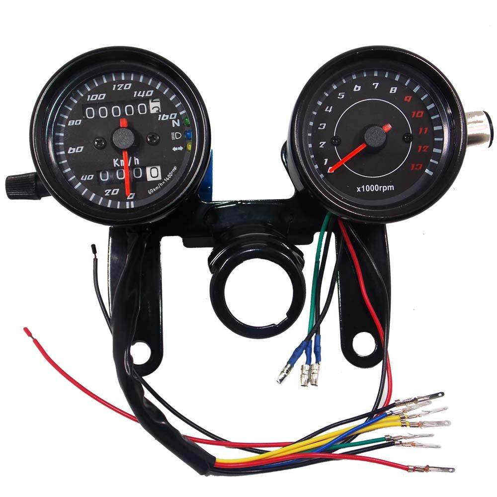 Thread Gauge Backlight Wiring Wire Data Schema 2 Kit Cacoonlisteo Motorcycle Speedometer Odometer With Led 12v Rh Aliexpress Com 4 Dash