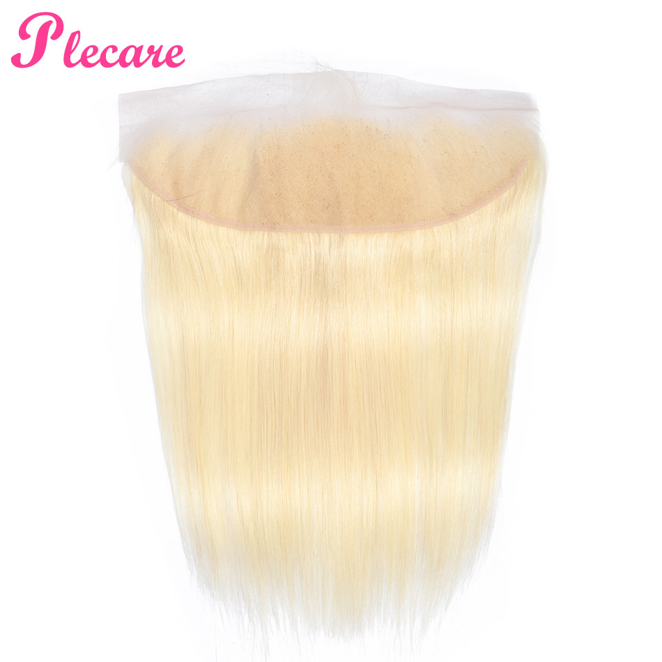 Plecare 613 Frontal Brazilian Straight 13 4 Lace Frontal Closure 1 Pcs Blonde 8 20 Inch
