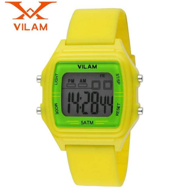 VILAM Fashion Brand Boy's Date Hours Quartz Clock Children Sport Watch Relogio Masculino Waterproof Free Ship