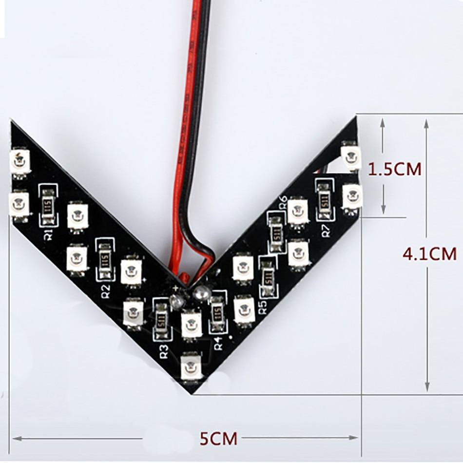 LVTUSI 2pcs Arrow Panou 14 SMD LED Mașină laterală Oglindă - Faruri auto - Fotografie 5