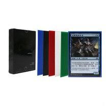 50 шт./лот 66*91 мм протекторы для карт с коробкой цвета карты протектор для mtg карман poker 88*63 мм карты листы, настольная игра