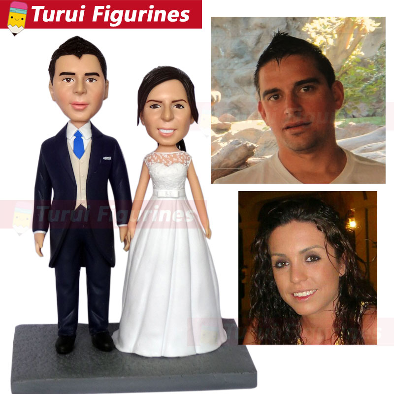 wedding figurine cake topper custom bobblehead from wedding photos party decoration wedding Handmade Bobblehead china suppliers in Figurines Miniatures from Home Garden