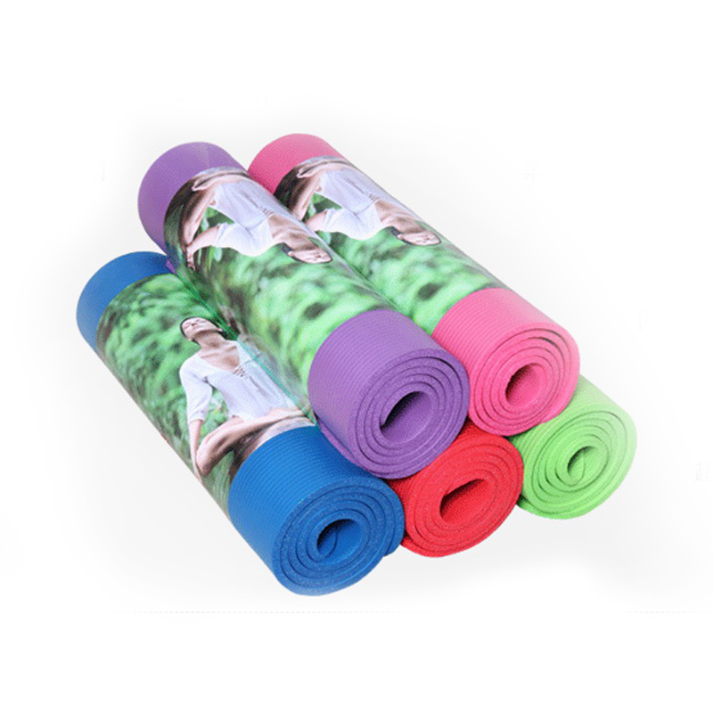 High Density Nbr Rubber Yoga Mats Exercise Pad Thick Non