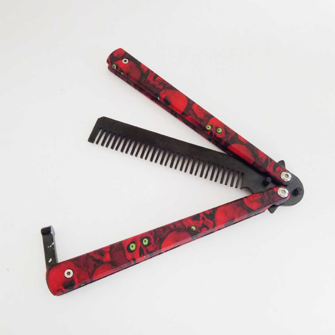Нож для самозащиты, инструмент, нож-бабочка, тренировочный складной нож для тренировки головы-призрака, без острых лезвий, Бабочка, серп