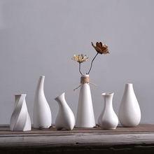 Classic white Ceramic Vase Desktop Table Creative Gift Household Decoration Vases mini Porcelain For Flowers