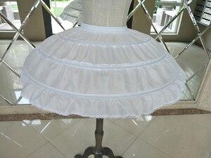 Image 3 - Enagua enagua para Vestido corto de boda, falda de Ballet para niñas, elástico ajustable, 3 aros, color blanco
