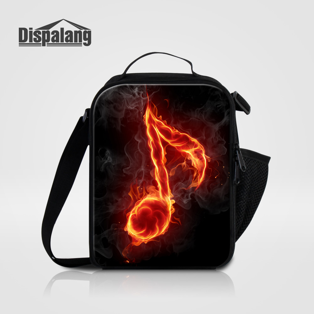 6b0ef933e0a4 US $16.97 32% OFF Dispalang Thermal Insulated Lunch Bags For Women Kid Food  Picnic Lunch Bag Musical Note Pattern Cooler Bag Men Portable Lunchbox-in  ...