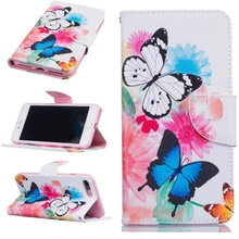 New Arrival for iPhone7/7Plus Fashion Paint Phone Wallet Case-Stand Wallet Purse Card Holders Magnetic PU Leather Flip Cover