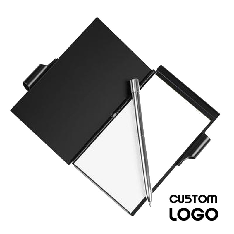 1pc Custom LOGO Personalized Aluminum Notepad Metal Appearance Mini Notebooks With A Pen Business Supplies Can Be Carried Around