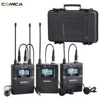 Comica CVM WM300(A) 96 Channel UHF Chargable Wireless mic Dual Lavalier Microphone for DSLR Cameras Canon Nikon Sony